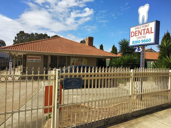 Signage of Smile Point Dental Centre, Point Cook