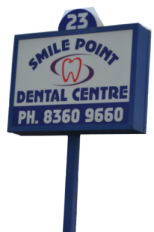 signage of smile point dental centre in point cook